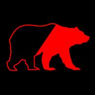 Ours Noir et Rouge